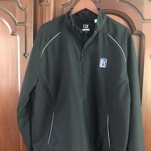 Cutter & Buck 1/2-Zip Pullover Rain/Wind-shirt Lg